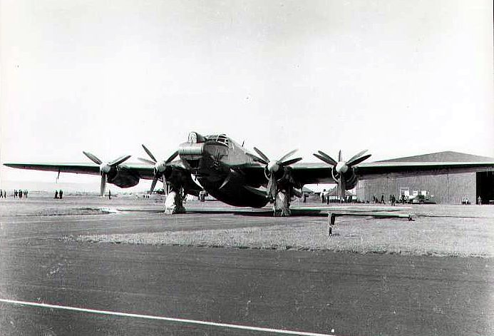 An Avro Shackleton Mk2 on the dispersal at Ballykelly