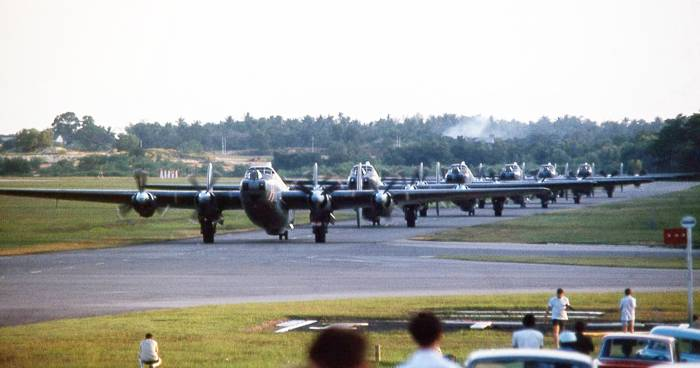 No 205 Squadron Avro Shackletons at RAF Changi