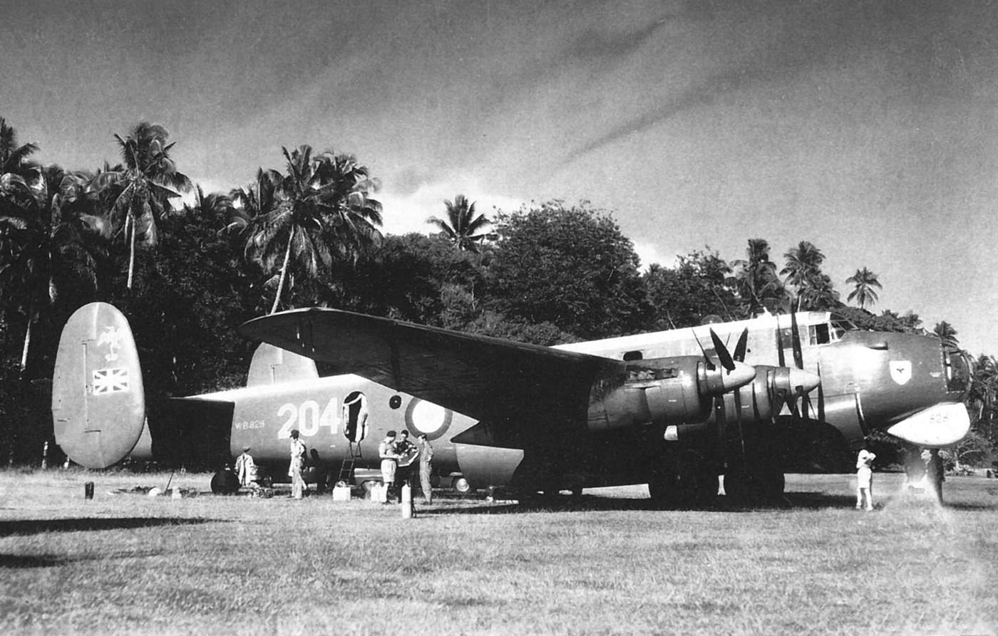 An Avro Shackleton Mk1 at the Cook Islands