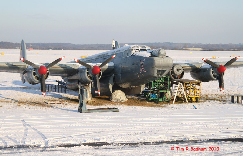 Shackleton WR963 in the snow at Coventry