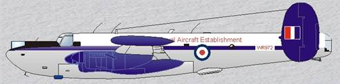 Royal Aircraft Establishment Shackleton - WR972