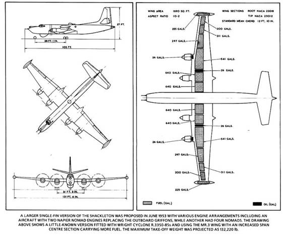 Plan views of the Shackleton Mk4 Proposal