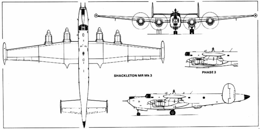 Plan views of the Shackleton Mk3